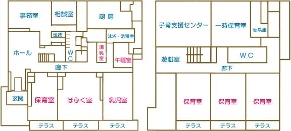 保育園の平面図